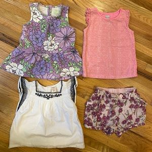 Kid's Summer clothes bundle Size 2T, 3T and 4T